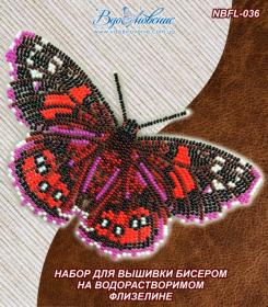 Набор для вышивки бисером Бабочка Адмирал красный