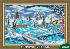 Рисунок на ткани для вышивки бисером Зима Art Solo VKA3046