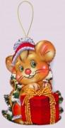 Набор для изготовления игрушки из фетра для вышивки бисером Мышонок
