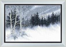 Набор для вышивки в смешанной технике Зимняя ночь Cristal Art ВТ-099