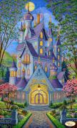 Схема для вышивки бисером на атласе Волшебный замок. Весна