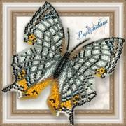Набор для вышивки бисером на прозрачной основе Бабочка Цирестис Нивея