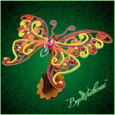 Набор для вышивки бисером Ажурная бабочка 3D 090 Вдохновение BGP-090