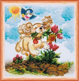 Набор для вышивки бисером Счастью навстречу, , 106.00грн., АМ-171, Абрис Арт, Собака символ 2018 года своими руками