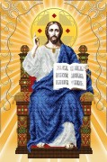 Схема вышивки бисером на атласе Спаситель на престоле