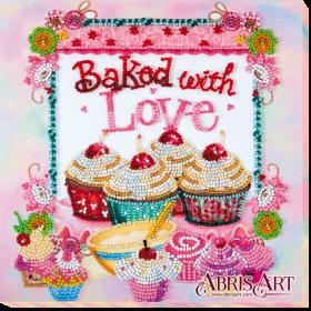 Набор-миди для вышивки бисером на холсте Выпечка от сердца Абрис Арт АМВ-003 - 232.00грн.