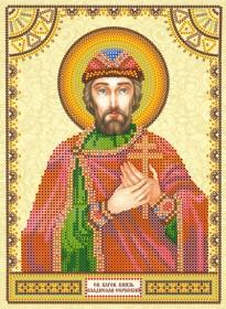 Схема для вышивки бисером на холсте Святой Владислав