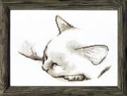 Набор для вышивки крестом Спящий котик