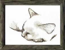 Набор для вышивки крестом Спящий котик Cristal Art ВТ-071