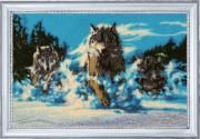Набор для вышивки бисером Волчья стая