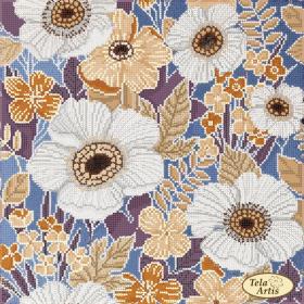 Схема для вышивки бисером на атласе Шелк, , 98.00грн., ТА-367, Tela Artis (Тэла Артис), Цветы