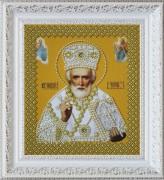 Набор для вышивки бисером Св. Николай Чудотворец (золото)