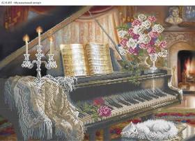 Схема для вышивки бисером на габардине Музыкальный вечер Acorns А2-К-481 - 144.00грн.