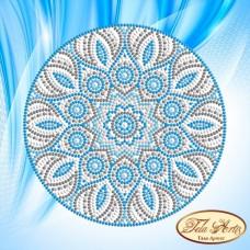 Схема вышивки бисером на атласе Мандала Бирюза