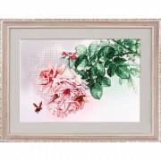 Набор для вышивки нитками на канве Розовые грезы
