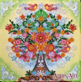 Набор-миди для вышивки бисером на натуральном художественном холсте Сказочное дерево