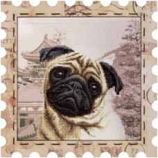 Набор для вышивки нитками Почтовая марка Мопс Новая Слобода (Нова слобода) КО4018-У