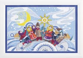 Набор для вышивания крестом Колядки