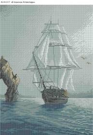 Схема для вышивки бисером на габардине В поисках Атлантиды Acorns А3-К-517 - 70.00грн.