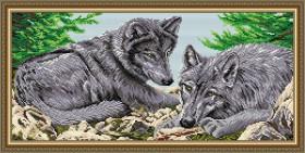 Набор для выкладки алмазной техникой Волки, , 500.00грн., АТ3211, Art Solo, Животные