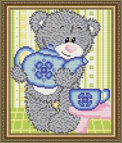 Набор для выкладки алмазной мозаикой Мишка с чайником Art Solo АТ5532 - 248.00грн.