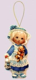 Набор для изготовления куклы из фетра для вышивки бисером Кукла. Англия Баттерфляй (Butterfly) F042 - 54.00грн.