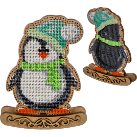Набор для вышивки  бисером по дереву Пингвин Волшебная страна FLK-292 - 330.00грн.