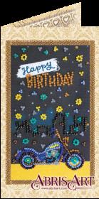 Набор-открытка для вышивки бисером В добрый путь, , 74.00грн., АО-143, Абрис Арт, Открытки, магниты