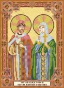 Схема вышивки бисером на холсте Святой князь Петр и святая княгиня Февронья