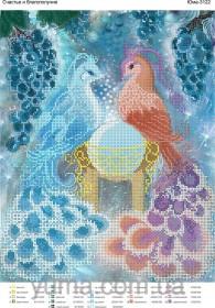 Схема вышивки бисером на атласе Счастье и благополучие, , 61.00грн., ЮМА-3122, Юма, Схемы и наборы для вышивки бисером по Фен шуй