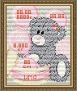 Набор для выкладки алмазной мозаикой Метрика для девочки