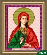 Рисунок на ткани для вышивки бисером Св. Виктория (Ника)