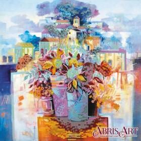 Схема для вышивки бисером Город цветов
