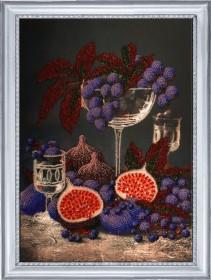 Набор для вышивания бисером Натюрморт с инжиром