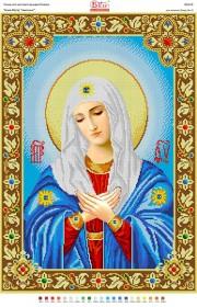 Схема вышивки бисером на габардине Божа Матір Умиління Вишиванка БА2-163 - 110.00грн.
