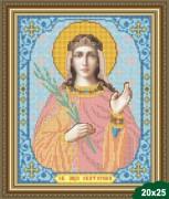 Рисунок на ткани для вышивки бисером Святая Екатерина