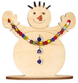 Набор новогоднее украшение из фанеры Снеговик