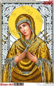 Схема вышивки бисером на габардине Семистрільна ікона Божої Матер Biser-Art 40х60-3085 - 125.00грн.