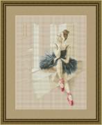 Набор для вышивания нитками Балерина у окна