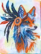 Набор для вышивания бисером на холсте Рыжая Лиса