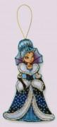 Набор для изготовления игрушки из фетра для вышивки бисером Снежная королева
