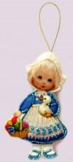 Набор для изготовления куклы из фетра для вышивки бисером Кукла. Голландия Баттерфляй (Butterfly) F044