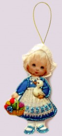 Набор для изготовления куклы из фетра для вышивки бисером Кукла. Голландия Баттерфляй (Butterfly) F044 - 54.00грн.