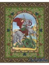 Схема для вышивки бисером на атласе Икона Святой Великомученик Георгий Победоносец Вдохновение БГИ-4005