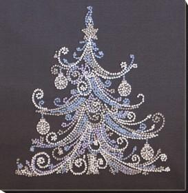 Набор-миди для вышивки бисером на натуральном художественном холсте Елочка серебро Абрис Арт АМВ-079 - 242.00грн.