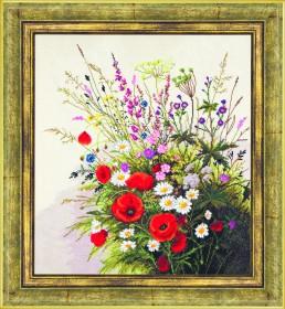 Набор для вышивания в смешанной технике Композиция из маков, , 564.00грн., М-119, Чарiвна мить (Чаривна мить), Цветы
