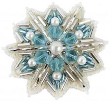 Брошь из бисера Снежинка Cristal Art БП-252