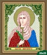 Рисунок на ткани для вышивки бисером Св. Маргарита