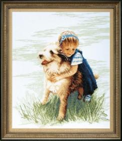 Набор для вышивания крестом Близкий друг, , 175.00грн., ВТ-043, Cristal Art, Собака символ 2018 года своими руками