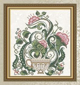 Схема для вышивки бисером на габардине Цветочный чай Art Solo VKA4711 - 45.00грн.